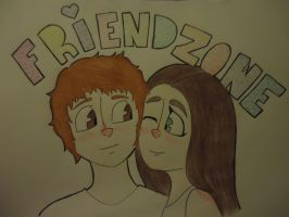 Falling in ''FRIENDZONE'', false ''FRIENDZONE'' by JoppyDoesArt
