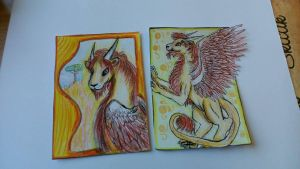 Aceo cards for BlackPeaVelvet by GingerAdy