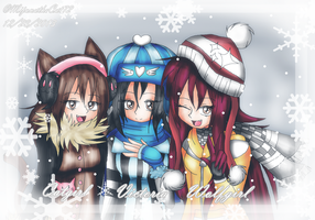 Gift - Catgirl, Victoria, and Wolfgirl by Fennix-Cat