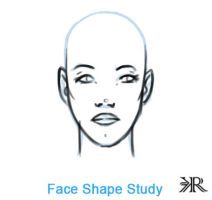 Character Design- Female Face Shape Study by riazkhan
