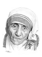 Mother Teresa by hartr
