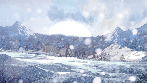 SnowScape Backdrop - Sn0st0rm Youtube Banner by grantd123