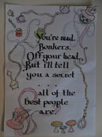 Alice in Wonderland Calligraphy by Phoenix396