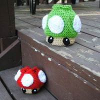 Mushroom Dice Bags by patterns4paws
