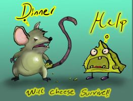 rat Vs Cheese by kstyle22