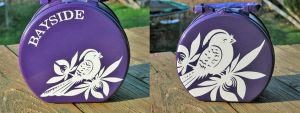Purple and White Lunchbox by strangelittleimp