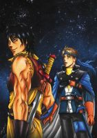 Viktor and Flik_Suikoden 21th Anniversary FanBook by Psycho-Firefly