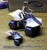 Tomb Raider 3 mini paper quad by ninjatoespapercraft