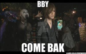 Ruki and the creepy-pedo-looking-entertainer-guy by forbidden-insanity