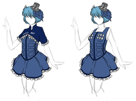 Clothing Designs - Tardis Dress by BakaNekoSango