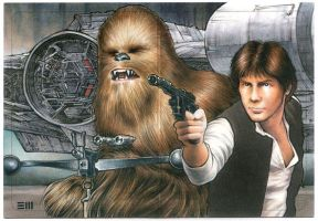 Han and Chewie Artist Proof by Erik-Maell
