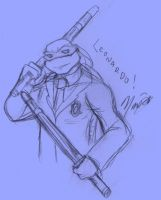 TMNT University Sketch - Leo by nichan