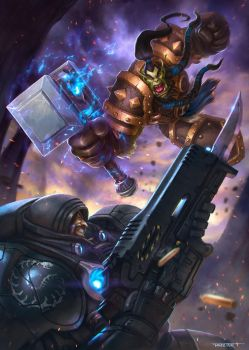 Heroes of the Storm contest: Thrall vs. Raynor by rafater