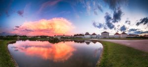 Schloss Nymphenburg, sunset pano by alierturk