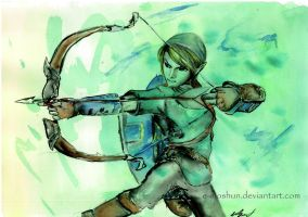 Link - Watercolour by e-moshun