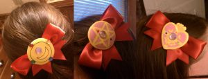 Sailor Bow Hairclips by sakkysa