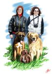 People and Dogs by HunDrenus