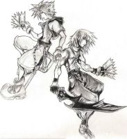 Sora and Riku by xHelloxGhettoxKittyx