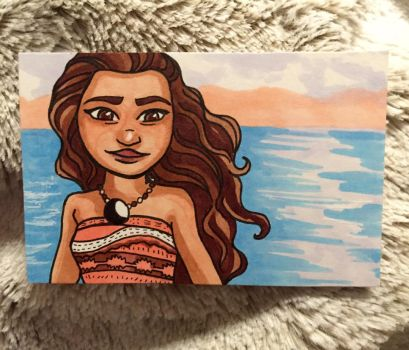 Moana Sketch Card by ghoulsandgals
