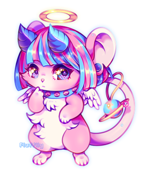Cotton Candy Mouse by Fluffily