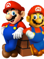 Old and new mario by supermariofan54321