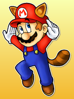 Raccoon Mario by MushroomWorldDrawer