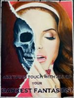 Lana Del Rey with Skull by vanjabs