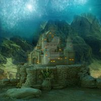 Castle Underwater by manilu