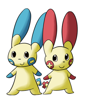 Request- Plusle and Minun by Miss-Mccookies