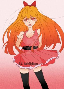 Blossom: Recolored (The Powerpuff Girls) by MadAsThyHatter