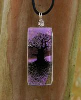 Lavender Skies Glass ToL by FusedElegance