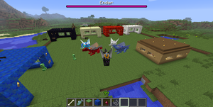 Me and my Awesome Dragons (Minecraft) by dragonfriendhaj