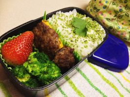 Stuffed Pepper and Mushroom Bento by Demi-Plum