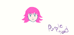 Pink Haired Girl (first attempt, Digital) by purpletad