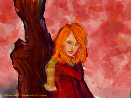ginny in the fall by Hillary-CW