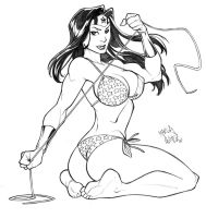 Wonder Woman sketch by CarlosGomezArtist
