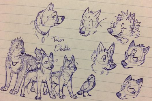 More Dog Character Doodles by TalonDoodle