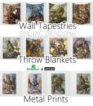 Zodiac Dragons at Society6 by The-SixthLeafClover