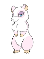 Marshmallow the Hamster by BootyFox