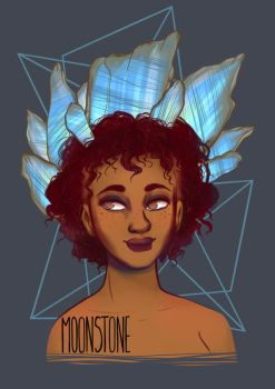 Birthstones: Moonstone by StressedJenny