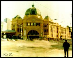 Abstract Flinderstreet Station by HellFox