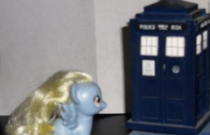 What's This? AKA Derpy Finds The TARDIS by Calico-Productions