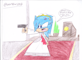 Krystal's Pissed off Bride by sonic4ever760