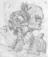 optimus and megatron by shin03