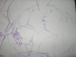 J3T x Charlie Scene (pen sketch) by StoneAnchor