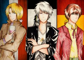 APH- THE BAD FRIENDS TRIO by nasume