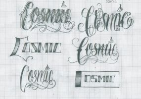 Cosmic Lettering by 12KathyLees12