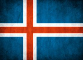 Iceland Grunge Flag by think0
