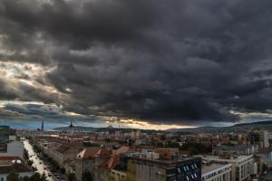 Storm over Cluj by Reiep