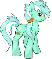 Lyra Weird Mane Style Cartoon by OranValeta